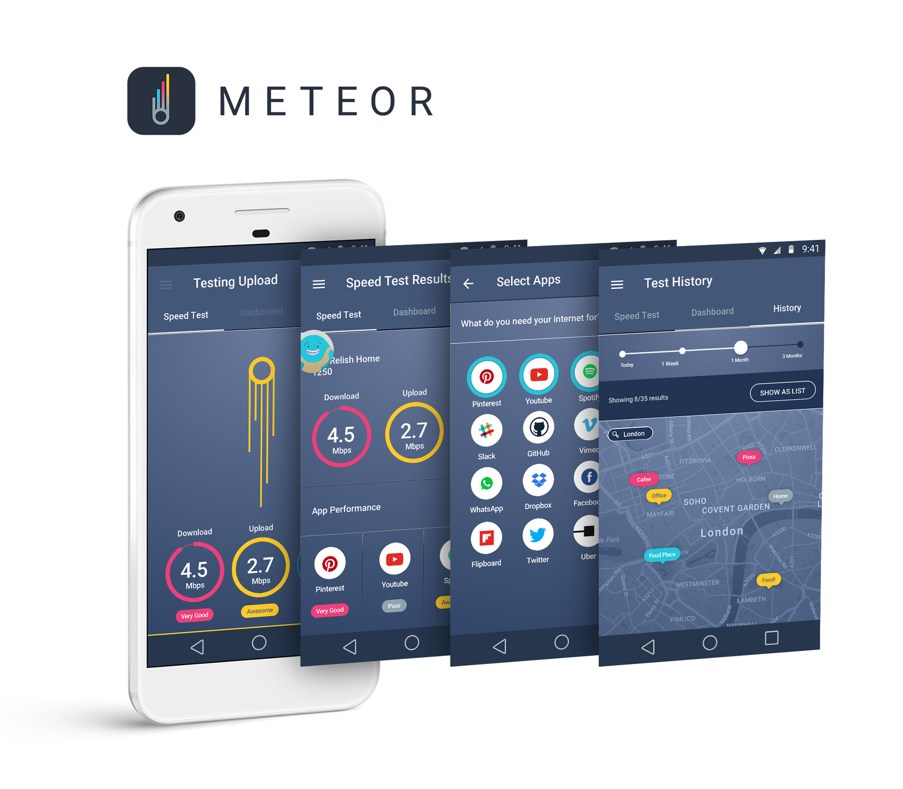 Meteor tests data speed, to see how well certain apps will run