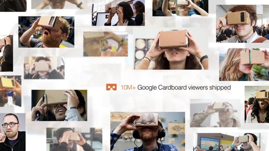 10 million Google Cardboard units have shipped - 10 million Google Cardboard VR viewers shipped to date