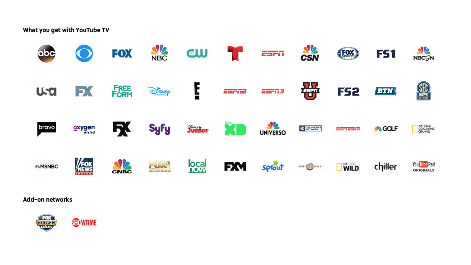 YouTube TV officially announced: 44 channels for $35 per month