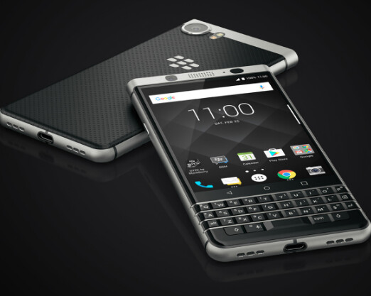 The BlackBerry KEYone - BlackBerry KEYone features fingerprint scanner built in to the QWERTY keyboard's space bar