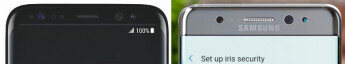 Galaxy S8 has the top bezel of Note 7 with its iris scanner, only thinner