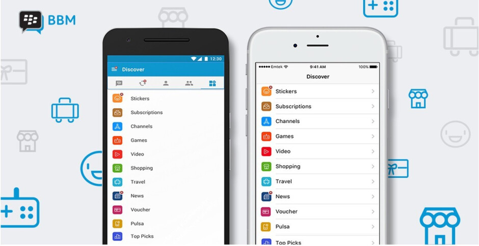 BlackBerry streamlines look and feel of BBM app on Android and iOS devices
