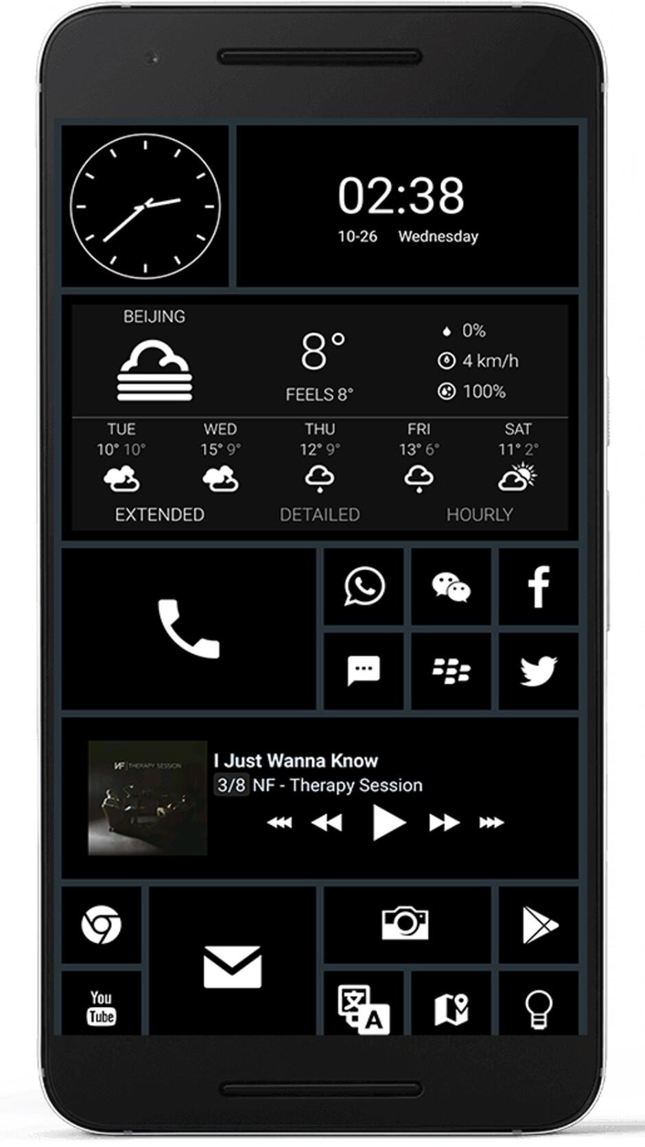 Last week's winner - MINDoSOUL - 10 beautiful custom Android home screen layouts #6