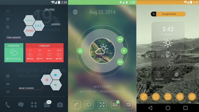 10 beautiful custom Android home screen layouts #6