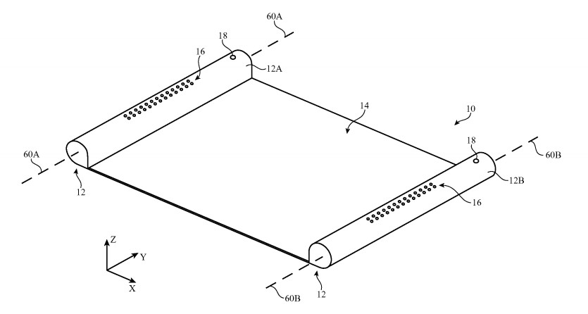 Patent application reveals how Apple might use flexible OLED displays in future devices