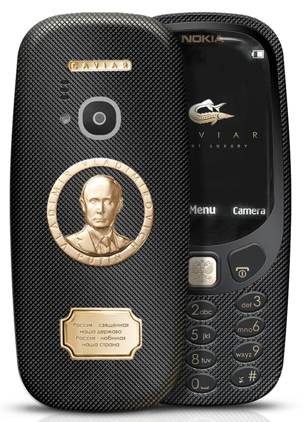 The Caviar 3310 is a phone that you can easily, ahem, Putin your pocket.. - Yes, you can get a $1700 gold and titanium version of the Nokia 3310