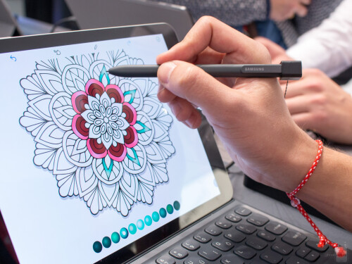 The new S Pen comes with the Galaxy Tab S3 tablet