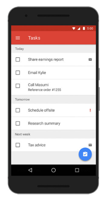 Google adds support for Exchange tasks in Gmail app for Android
