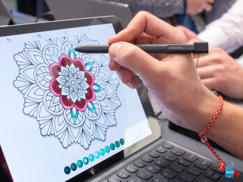Recolor on the Galaxy Tab S3 is like a coloring book for grown-up kids