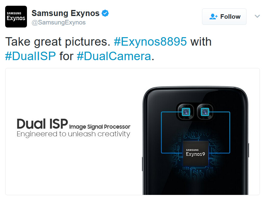 Is this promo hinting at a dual-camera setup for the Galaxy S8 or the Galaxy Note 8? - Exynos 9 promo hints at dual camera setup for upcoming Samsung Galaxy handset