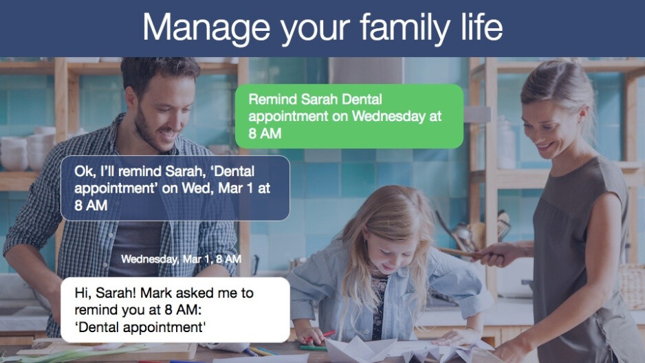 Yahoo launches new text-based chatbot that can help you organize the family schedule