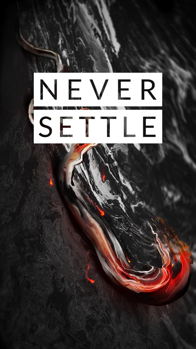 """Wallpaper tease? - """"Never Settle"""" teaser maybe hints at OnePlus 4 (OnePlus 5?). Or just a jet black color for an existing product"""