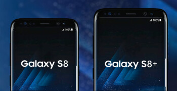 Samsung Galaxy S8 and Galaxy S8+ size comparison