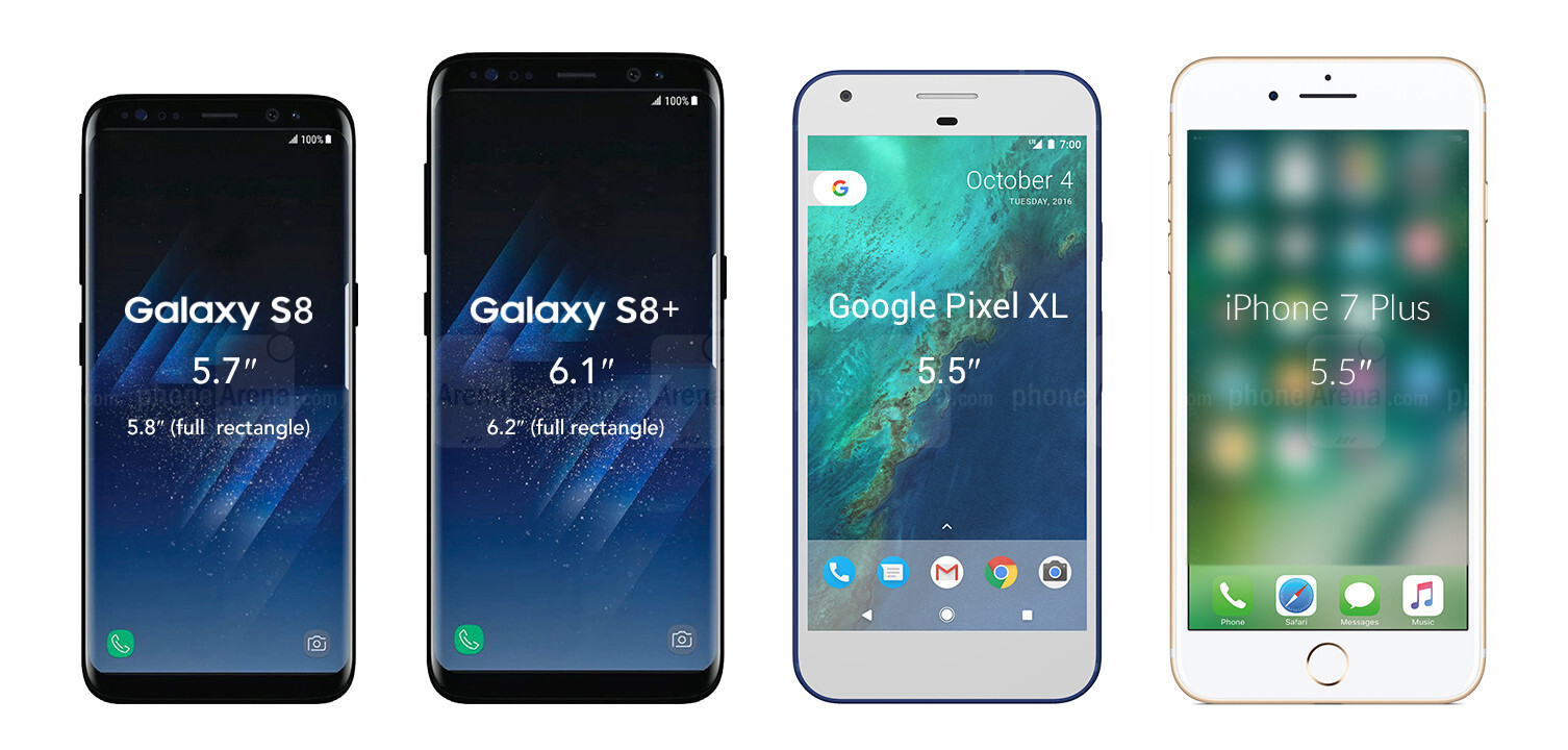 galaxy edge s8 vs iphone