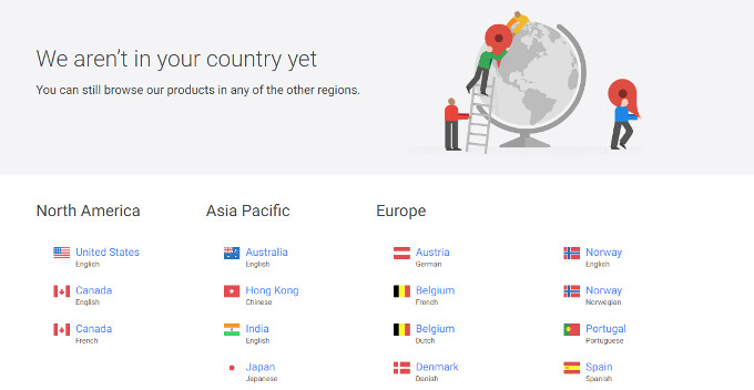You can now buy devices on the Google Store from any place in the world, shipping still limited to select few countries