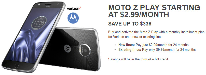 Deal: Get Verizon's Moto Z Play Droid for just $2.99 per month (new line required)