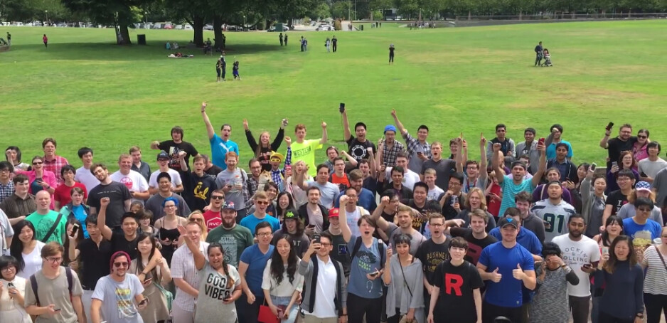 Pokemon GO players at Bellevue Downtown Park, WA - Take that, naysayers! New study reveals that Pokemon GO players walk an extra 2,000 steps per day