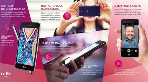 US Cellular's LG K8 2017