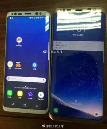Galaxy S8 (left) vs. Galaxy S8+