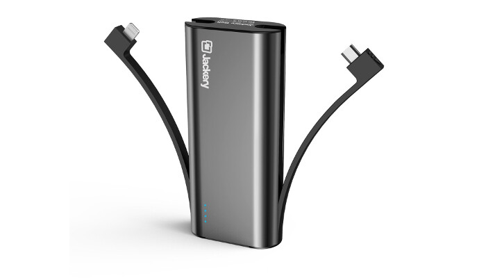 Deal: Grab this Jackery Bolt portable charger with built-in Lightning & Micro USB Cables at 63% off!