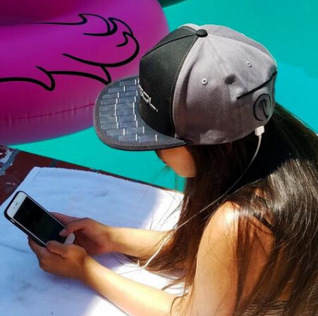 The Poweraid SolSol Solar Hat uses solar power to charge your phone