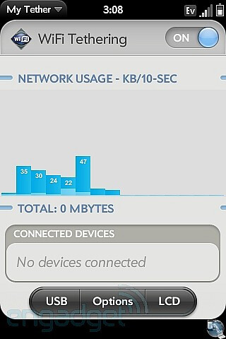Latest MyTether app for webOS brings along Wi-Fi hotspot without the subscription
