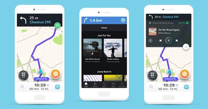Spotify and Waze form an unlikely partnership, integrate