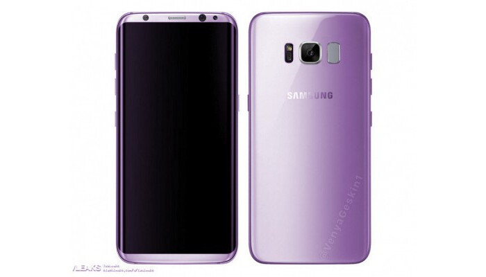 """Photoshopped version of the Amethyst Samsung Galaxy S8 - Samsung teases Galaxy S8 features and color variations; """"Amethyst"""" version might be a real thing"""