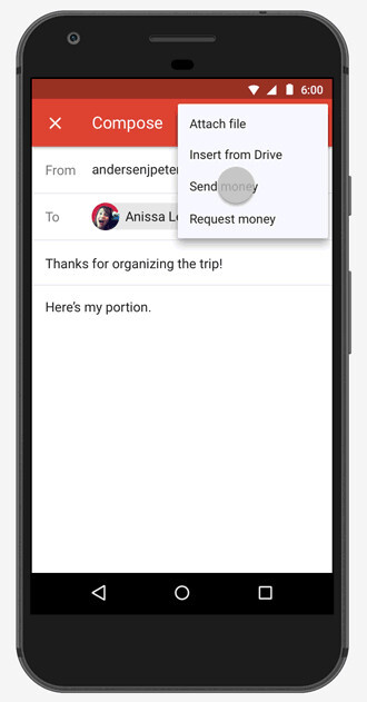 Send money in Gmail on Android - You can now send and request money in Gmail on Android