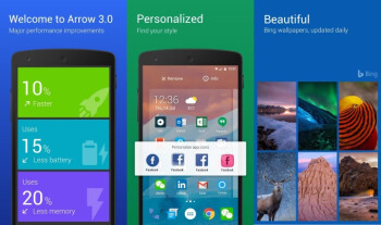 The latest update to Microsoft's Arrow Launcher brings a ton of new features