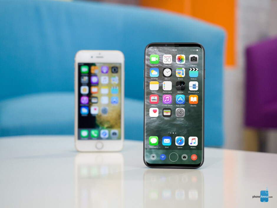 Concept iPhone 8 and an iPhone 7 -- same size, larger display - This is what the bezel-less iPhone 8 may look like: ultimate design concepts of the black and white models