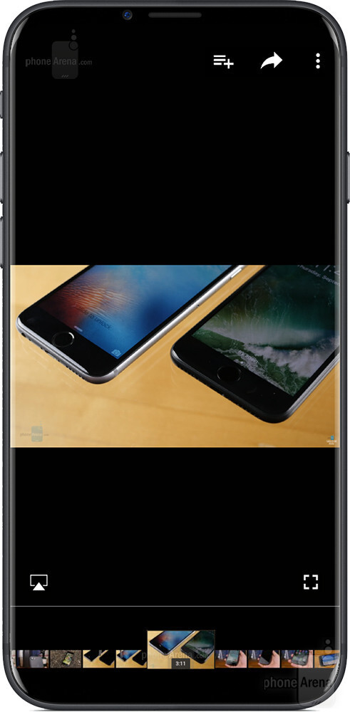 A scrubber bar for those rare occasions when you watch a video in portrait mode - This is what the bezel-less iPhone 8 may look like: ultimate design concepts of the black and white models