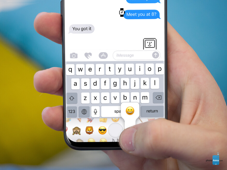 All emojis right under your keyboard - This is what the bezel-less iPhone 8 may look like: ultimate design concepts of the black and white models