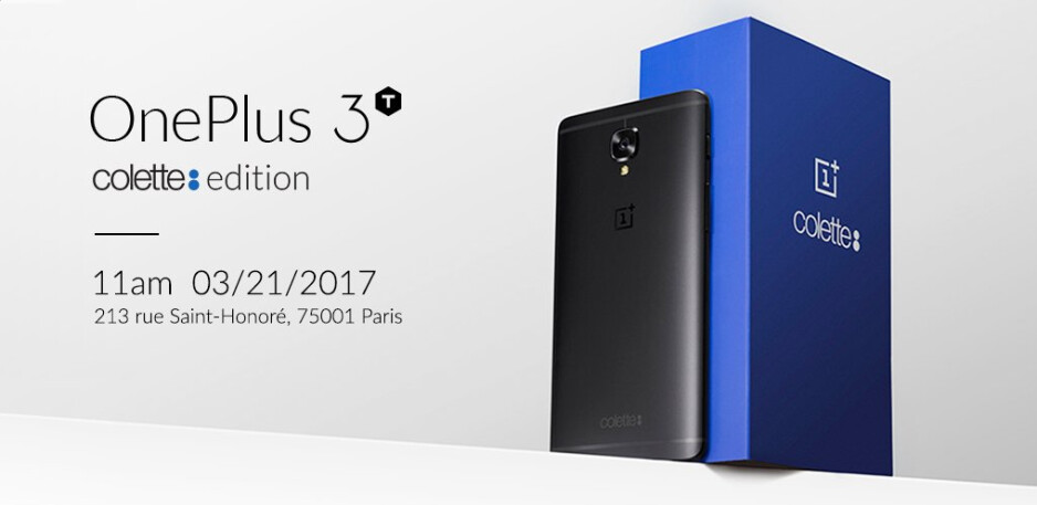 The OnePlus 3T colette edition will launch in one store only on March 21st - OnePlus 3T colette edition is introduced; custom black color and 128GB of native storage