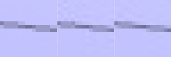A crop of an image of a phone line hanging against a blue sky. From left to right – original image, libjpeg compression in the middle, and Guetzli on the right - Google's JPEG encoder reduces image size by 35%, could help you save mobile data in the future