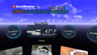 AccuWeather on the Samsung Gear VR