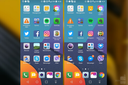 Changing shape and backdrop of app icons