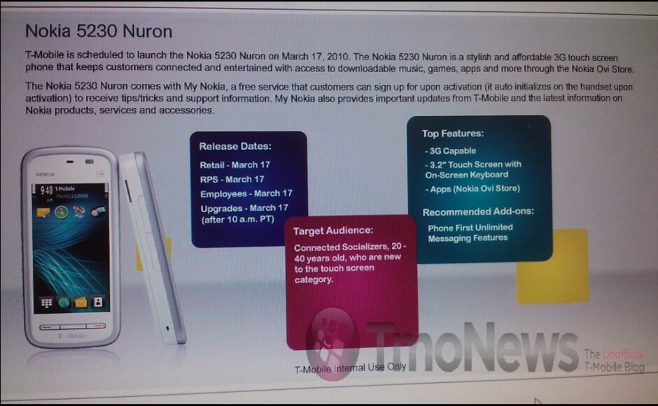 Nokia Nuron is apparently the 5230, aimed at touchscreen newbies