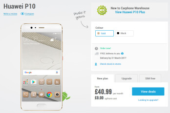 Huawei P10 and P10 Plus flagships up for pre-order in the UK