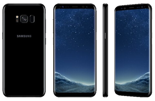 Samsung Galaxy S8 in purple and black