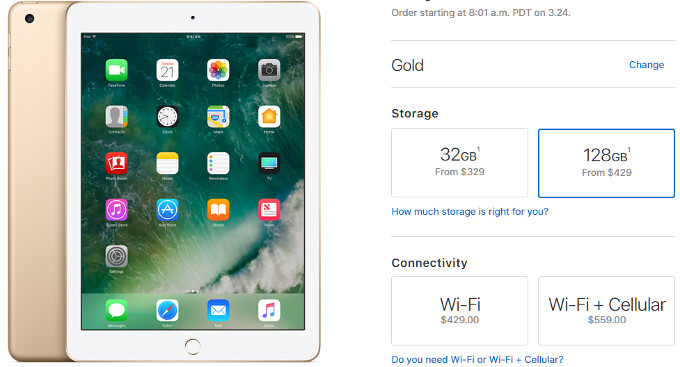 """The most expensive new model is just sixty bucks more than what the Air 2 starting price used to be - Spell cheap: new Apple iPad 9.7"""" price, release date and country availability"""