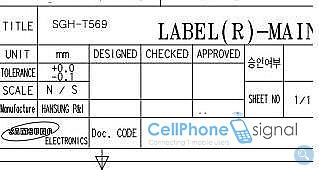 Samsung T569 passes through the FCC - possibly a touchscreen phone?