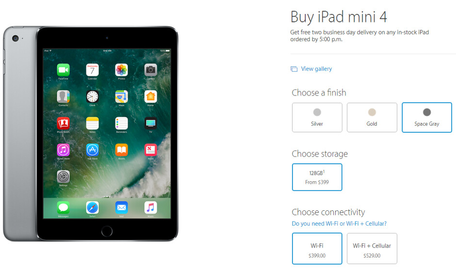The iPad Mini 4 wasn't updated, but its price-to-storage ratio changed drastically