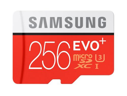 Samsung 256GB EVO+ UHS-I microSD card
