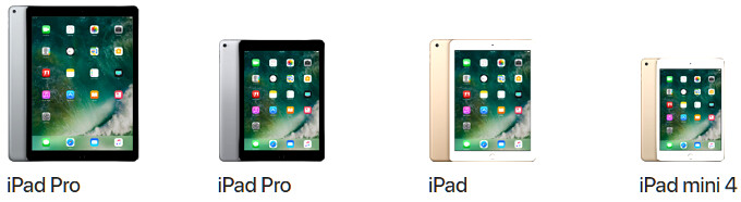 Apple iPad family portrait - The new iPad's 'brighter Retina Display' is a cheaper version of the Air 2 panel