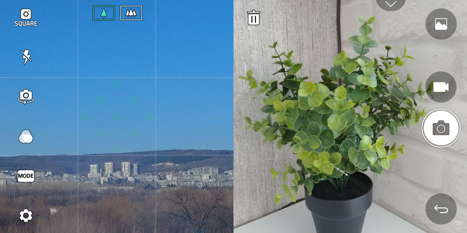 Square shot preview is pretty convenient too - LG G6 camera UI: what's changed?