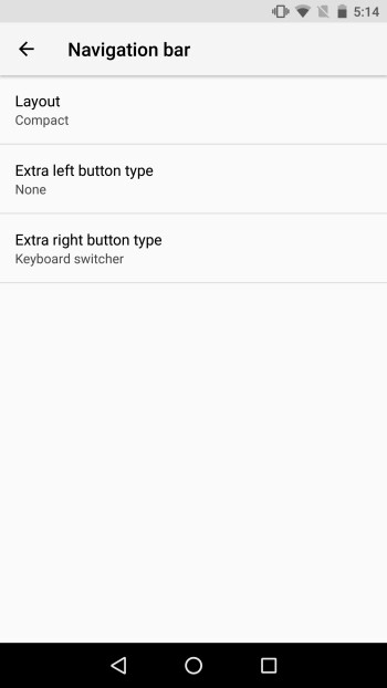 The navigation bar is getting some customization love with Android O