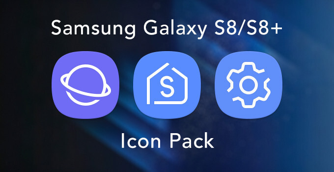 You can download and use these Samsung Galaxy S8/S8+ icons on any Android phone