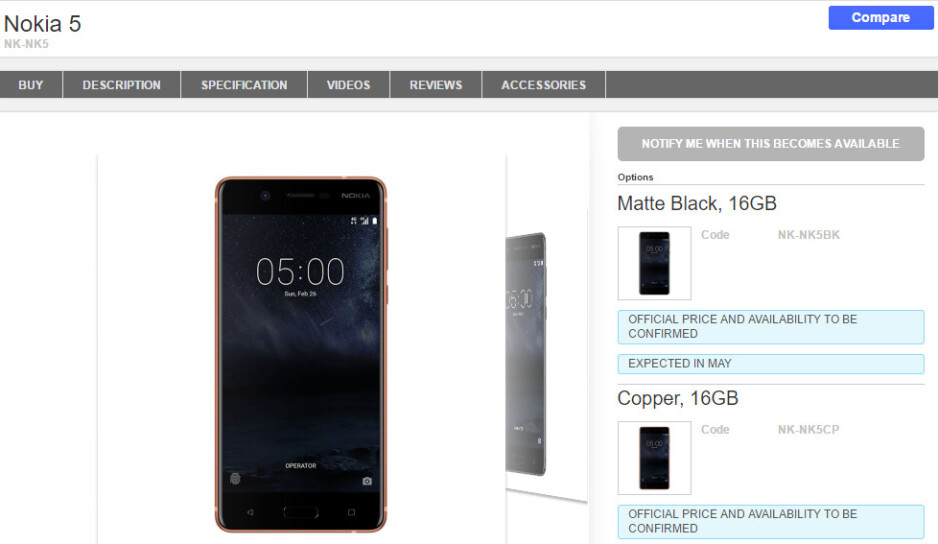UK retailer to start shipping Nokia 3 and 5 smartphones in May, Nokia 6 comes in June