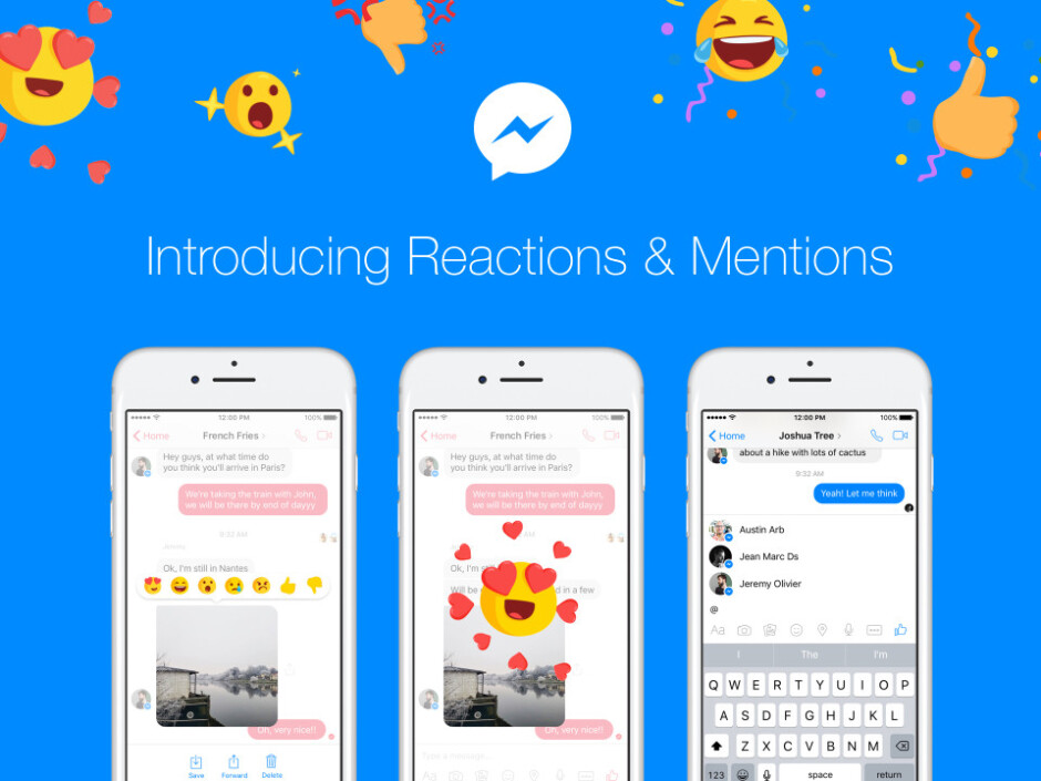 Facebook adds Reactions and Mentions to Messenger app on Android and iOS